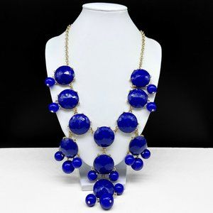 NEW Blue Bubble Bead Statement Necklace Beaded